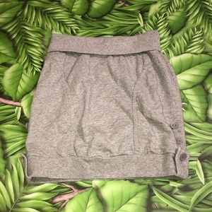 Triple Five Soul Gray Jersey Skirt Size Small